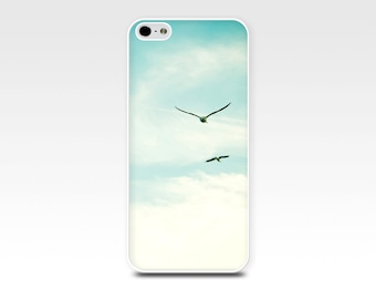 birds flying iphone 5s case iphone 6 case blue sky iphone 4 case birds flying iphone case 5 clouds iphone case 4s girly blue pastel cream