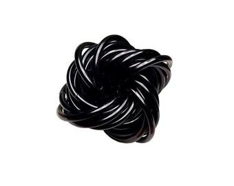 Fidget, Chainmail Vortex Stress Ball   Ninja Black Aluminum