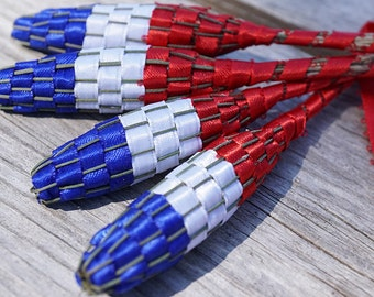 gardening gift for men Nature Gift 4th July American Flag Organic Lavender Wand Patriotic home decor floral Red White and Blue USA Americana