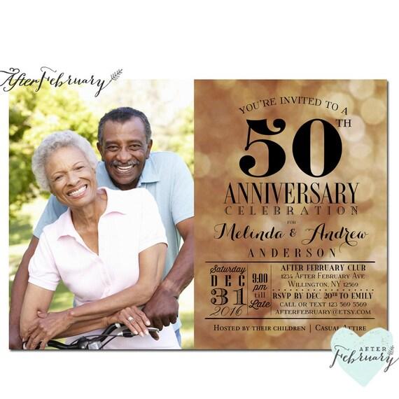 50th anniversary invitation golden wedding anniversary stopboris Images