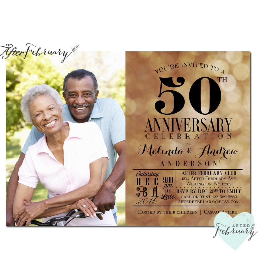 50th Anniversary Invitation // Golden Wedding Anniversary