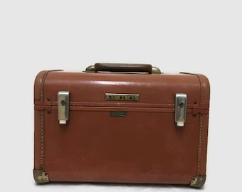 Vintage Train Case - Towncraft Penneys - Makeup Carry On Tote