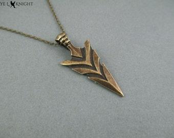 Arrowhead Necklace - Bronze