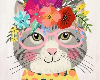 Floral cat