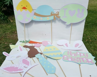 Easter Photo Booth Props - Easter Party - Easter Egg Hunt - Photo Booth Props