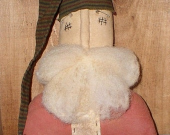 Olde Santa Sitter EPATTERN - primitive country christmas claus cloth doll craft digital download sewing pattern - PDF - 1.99
