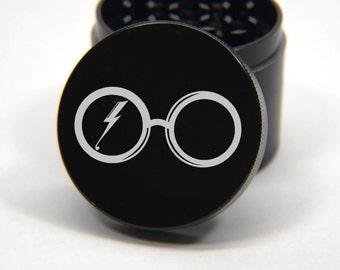 Laser Engraved Herb Grinder - Harry Potter Themed Engraved Design 4 Piece Grinder #155