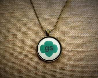 Girl Scout Inspired Necklace. Perfect for leader, mom, Daisy, Brownie, Junior, Cadet, Senior, or Ambassador ranks.