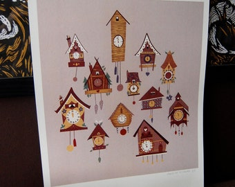 Tick Tock Cuckoo Clock Print