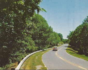 The Road to Vacation Land - 1977 Vintage Postcard