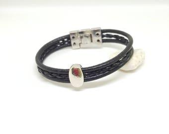 "Bracelet cuir homme "" ZEUS"""