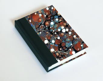 "Sketchbook 4x6"" with motifs of marbled papers - 12"