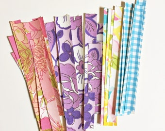 Fabric Tape from Vintage Sheets - Planner Supply - Project Life - Scrapbook Emblishment - Fabric Washi Tape - Papercraft Supply