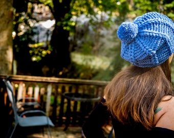 Crochet Beanie, Slouchy Beanie, Crochet Hat, Slouchy Hat, Blue Raf Beanie, Woman Beanie, Crochet Hippie Hat