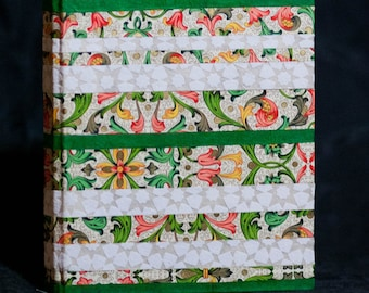 Florentine and Arabesque Printed Journal with Green Accents