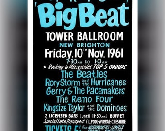 The Beatles Poster Operation Big Beat A4 Print Vintage Concert Gift