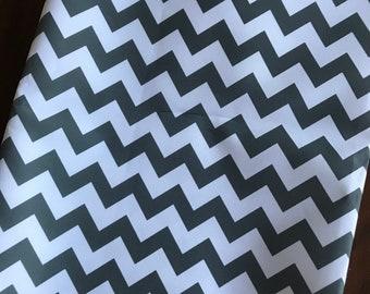 Water Resistant Canvas Gray Chevron