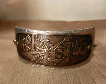 ROCKSTAR... Gemischte Metall Manschette Armband