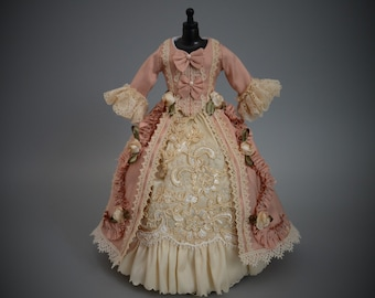 The Blythe Couture Collection:Rococo Gown of Silk and Lace- Made to Order-Pure Neemo S/Blythe/Pullip/Takara/Licca/Azone