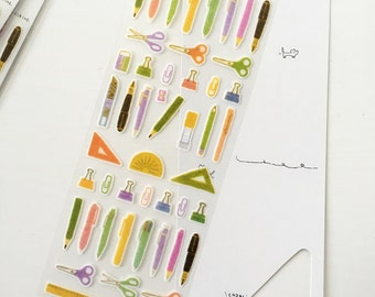 Stationery Stickers Sheet