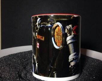 11oz. Mug Triumph Bonneville Motorcycle Photograph by ChiaroFoto