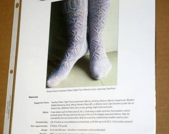 CLEARANCE 3 Printed Sock Knitting Patterns, Knitspot Rimefrost, Tidelines, and Teosinte