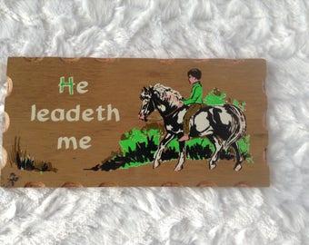Psalm 23, He Leadeth Me, Bible verse, Bible prayer, Psalm of David,  inspiration, comfort, horse, pony, child,