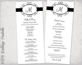 Printable Wedding Program Template - Wedding invitation templates: wedding order of service template