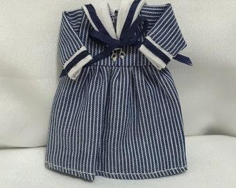 "Dollhouse Miniature 1"" Scale Heidi Ott Child's Sailor Dress"