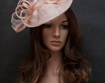Erröten rosa eleganten Hut für Ihre besonderen Anlässe-europäischen Stil Hochzeit fascinator
