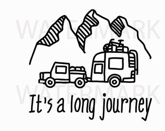Long Journey - JPG PNG SVG - Hand Drawing Image - Digital files Instant Download