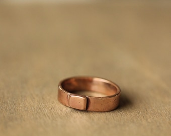 Simple Bronze Ring. Size P  1/2 Aust.   or  size 8 US.