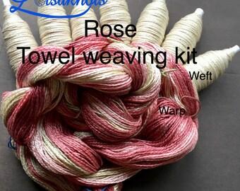 Beginner Weaving Kit, Rose Towels, Weaving Loom Kit, DIY Weaving Kit, How to Weave Kit, DIY Weaving Kit, Loom Weaving, Pre-wound Warp