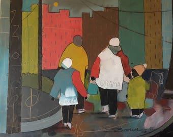 The Year of Obama Print, African American Art, Black Art, Obama Art,Home Decor Art, Watercolor Art,Abstract Art, Wall Art