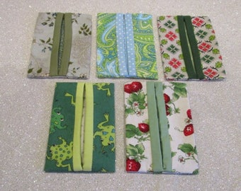 Green Kleenex Holders with Tissues