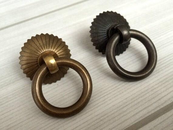 Gota pequeña anillo tira Dresser tire perillas cajón cobre