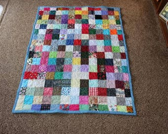 Throw Size Scrappy Patchwork Quilt - Custom Made to Order