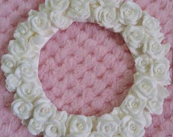 Rose wreath embellishment/shabby chic/furniture applique