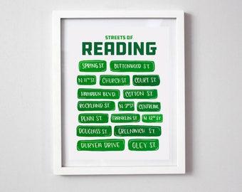 STREETS of READING Print - Reading Pennsylvania