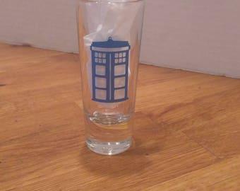 Doctor Who tardis shot glass