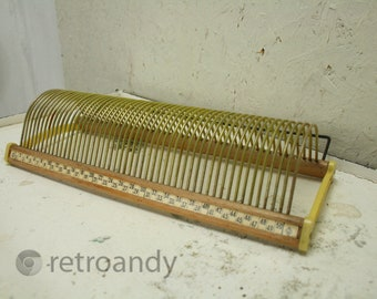 vintage 7 inch record holder in yellow and by plattofix
