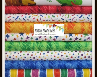 Eric Carle Super Bundle from Andover Fabrics (11 Fabrics PLUS 1 Panel)  - See Notes