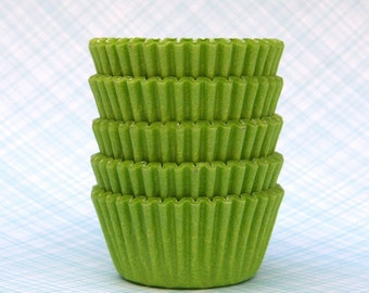 SALE: MINI Lime Green Cupcake Liners (100)