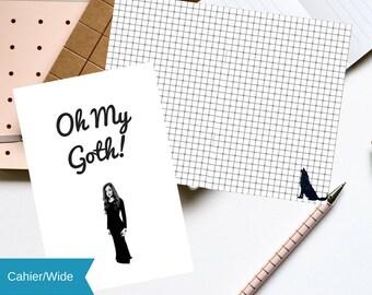 "Cahier/Wide TN Printable ""Oh My Goth!"" Grid Insert | Digital Download"