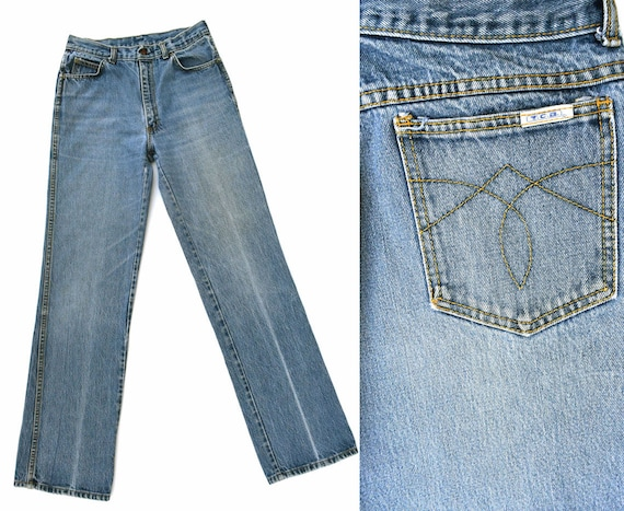 1970s Vintage Denim Jeans Mens Vintage Jeans Hippie Jeans Boot Cut Flared Leg Jeans TCB Denim Jeans 70s Flared Jeans 30 X 33 Vintage Denim