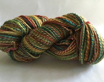 Handspun  BFL/silk  wool yarn