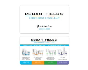 Rodan + Fields Business Cards (white)