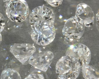 One White Topaz Natural Faceted 2.5 mm Round Colorless Gem Averages .08 carat