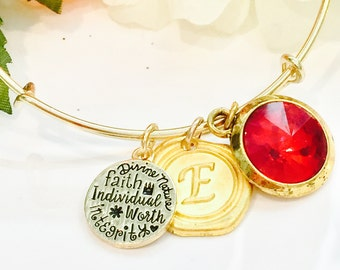 LDS Young Women's Value Bracelet LDS bangle breaclet Personalized Young Women LDS Gift. Young Women Values Jewelry
