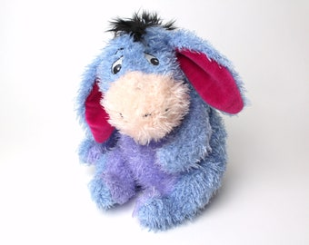 Vintage Disney Store Eeyore w/ Detachable Tail - New Furry Soft Toy Stuffed Animal Winnie the Pooh Bear Collectible 90s AA Milne